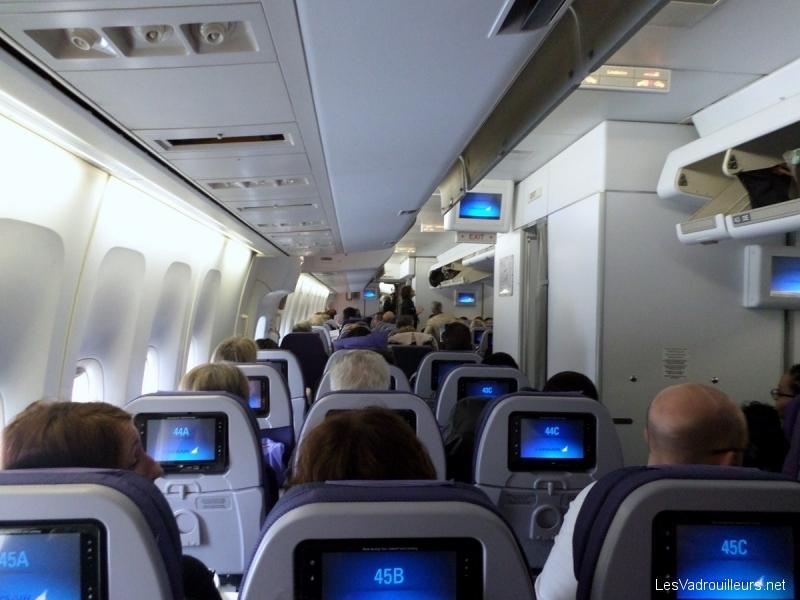 Notre test du boeing b747 400 de la compagnie corsair for Plan de cabine boeing 747 400 corsair