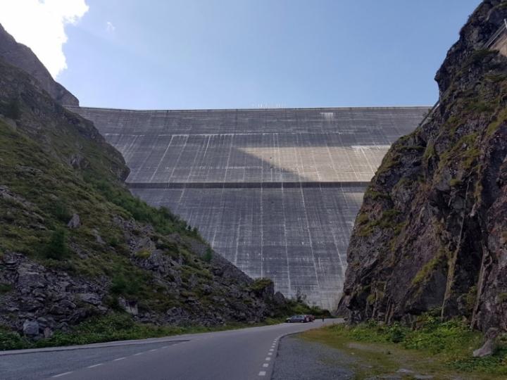 été dans le Val d'Hérens : Barrage de la Grande Dixence