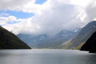 été dans le Val d'Hérens : Lac des Dix