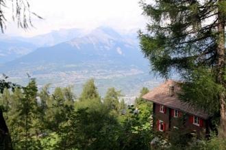 été dans le Val d'Hérens : Balade grand bisse de Vex