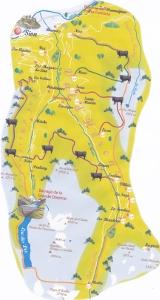 Val d'Hérens : la carte