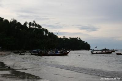 Arrêt à une plage de l'île