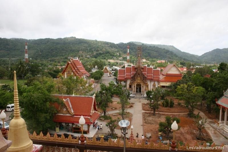Vue extérieure depuis le temple