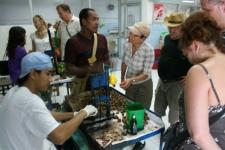Visite usine à noix de cajou