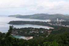 Vue panoramique sur l'île