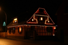 Maison décorée pour Noël