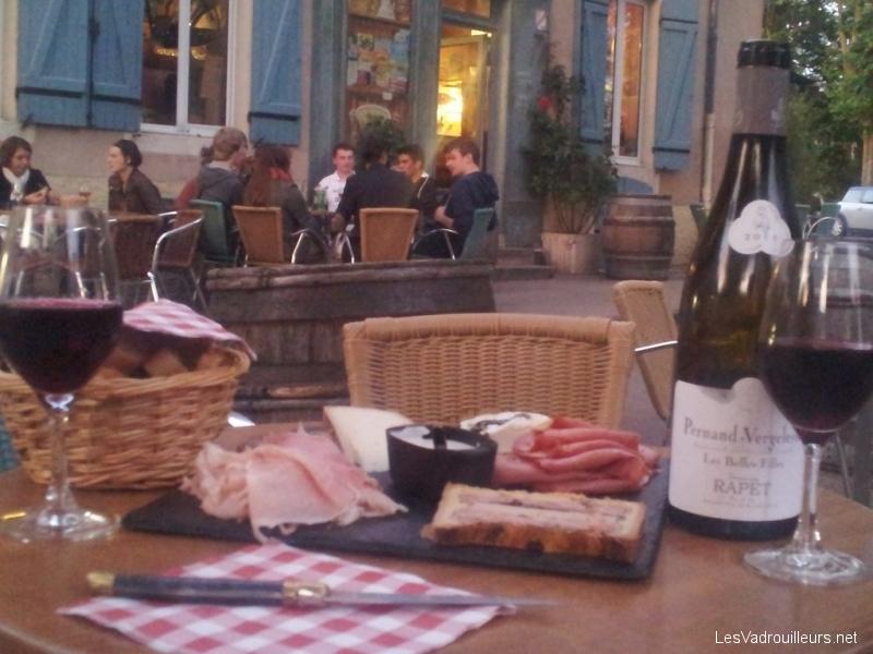 Bar à vin à Beaune en Bourgogne