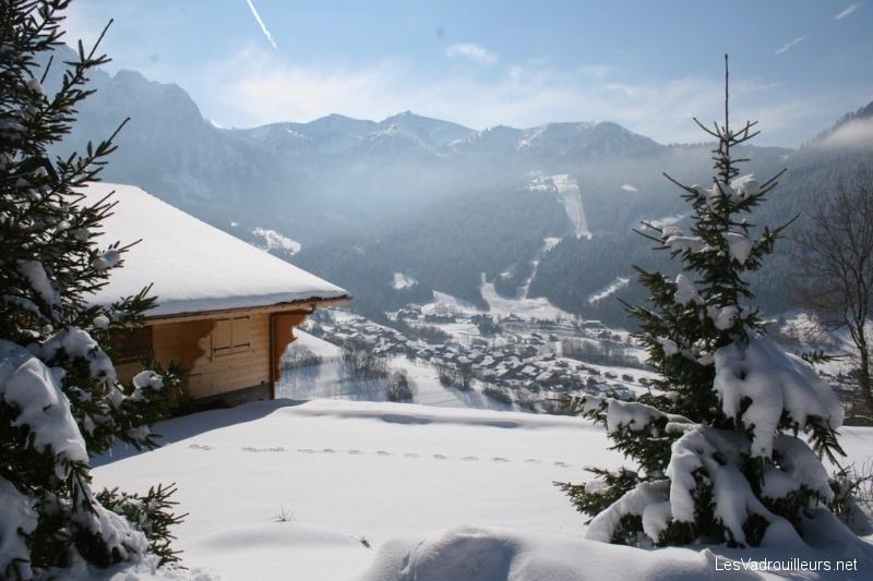 La neigne à la montagne sur Bernex