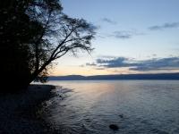 Coucher de soleil sur le lac Léman