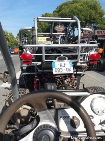 Installé dans mon buggy