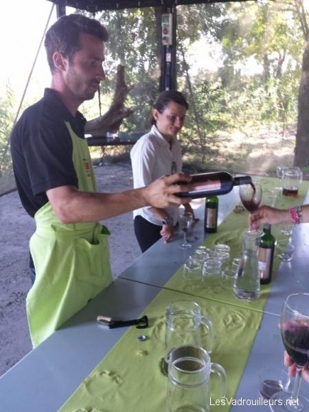 Dégustation de vins sur l'île de Patiras