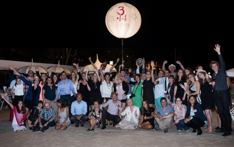 Les blogueurs sur la plage du 3.14 CANNES