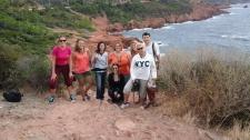 Les blogueurs du blogtrip en méhari