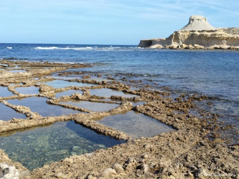 Salines de Qbajjar à Marsalforn