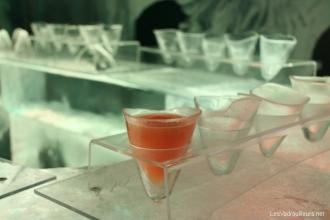 Des verres en glace