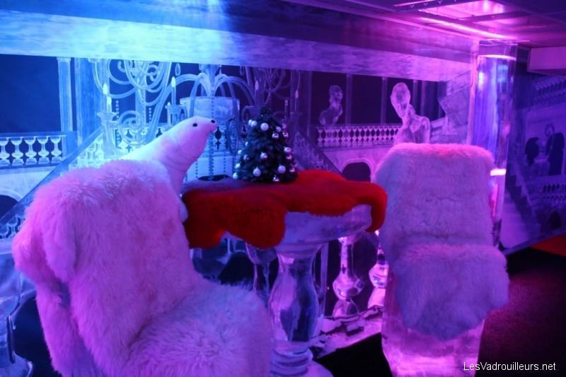 Fauteuils de glace avec fourrures
