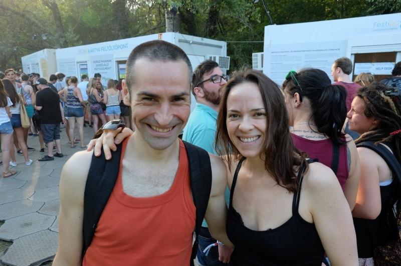 Sziget festival, Tony et Haydée contents d'être là