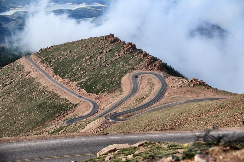 Route pour monter à Pikes Peak