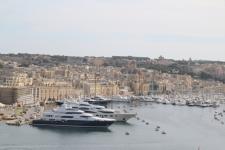 Vue sur le Grand Harbour et Vittoriosa