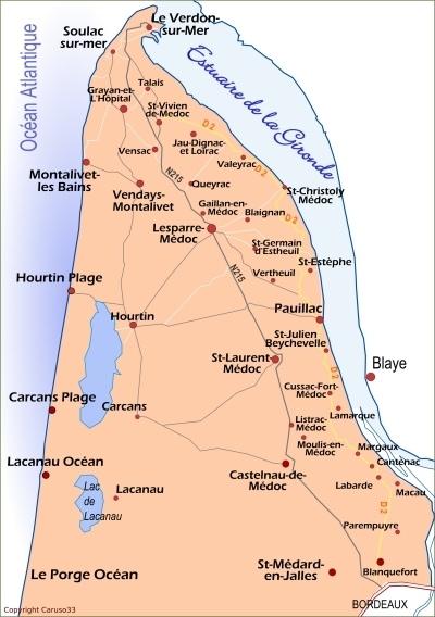 Carte du Médoc (c) Caruso33