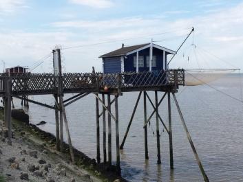 Cabane pêcheur au carrelet
