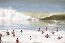 Grosses vagues de Lacanau