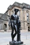 Statue dans une rue de Glasgow
