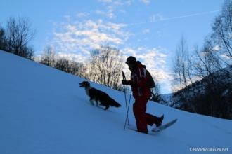 Le guide avec son chien