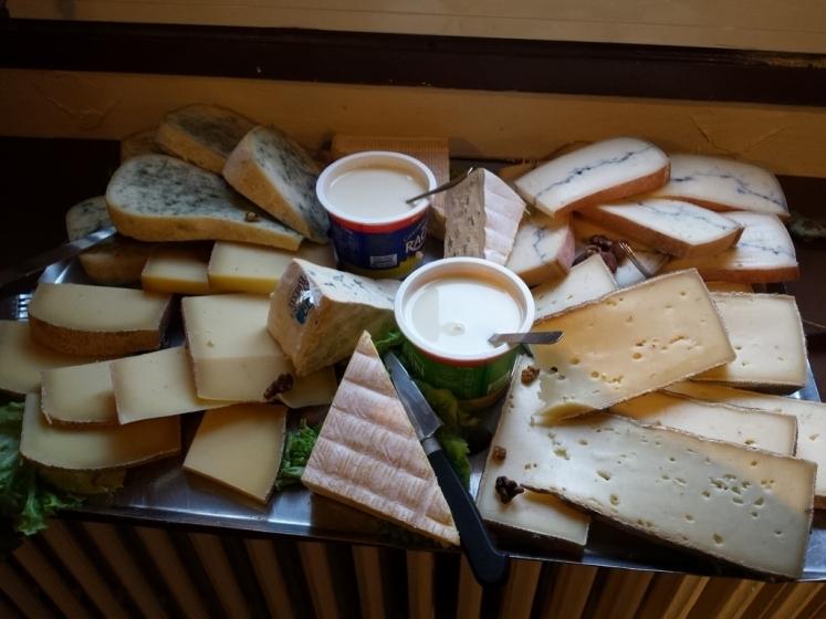 Plateau de fromages du Jura