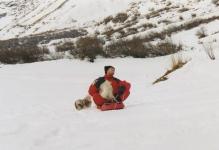 Lutin et Otis à la neige