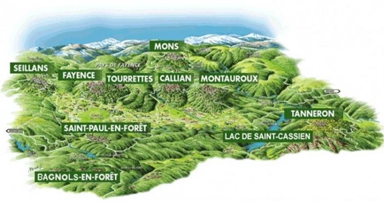 Carte du Pays de Fayence