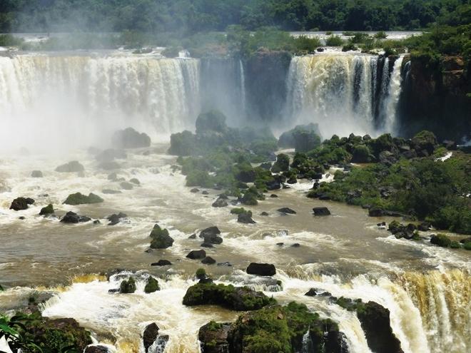 Les chutes d'Iguazu côté Brésil