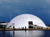 Le musée national à Brasilia