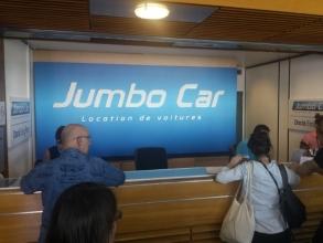 Bureau Jumbo Car à l'aéroport