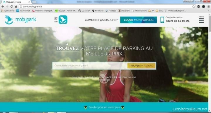 Le site web MobyPark