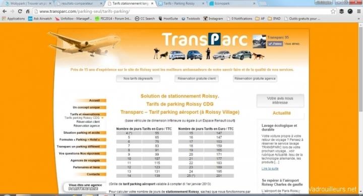 Comparaison Transparc.com