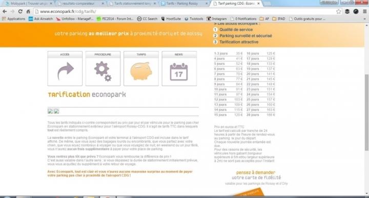 Comparaison Econopark.fr