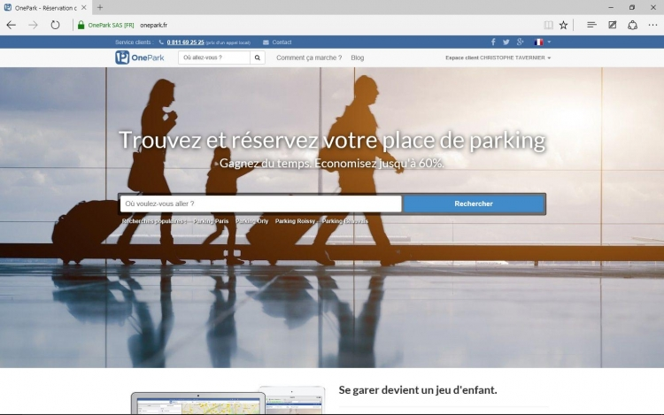 Réservation parking via Onepark