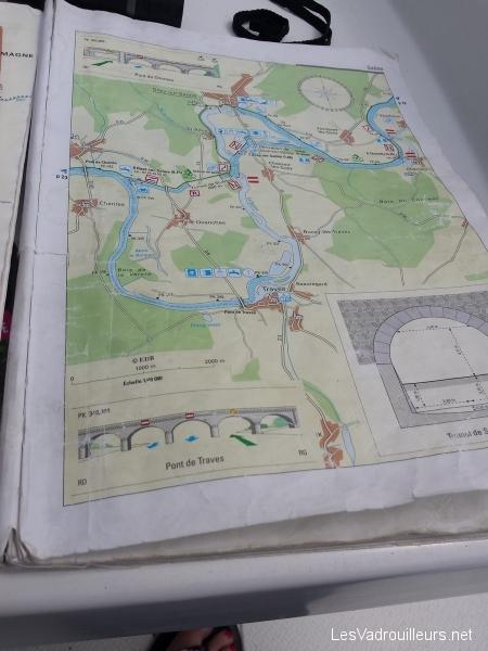 Carte fournie pour le parcours fluvial