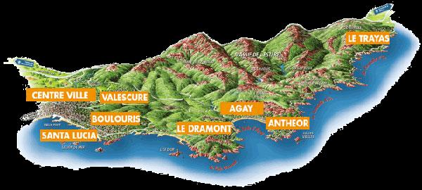 Territoire de Saint-Raphael (c) Esterel Côte d'Azur