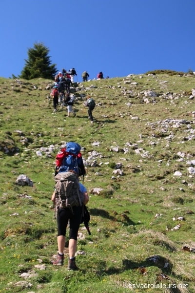 On monte vers les sommets