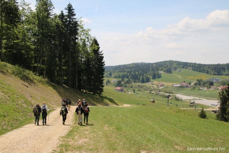 Descente par les pistes de ski