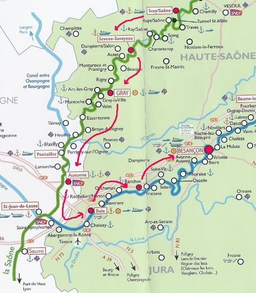 Parcours fluvial en France-Comté