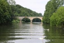 Passage sous un pont de la Saône