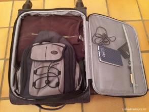 Utilisation de la valise cabine Lys