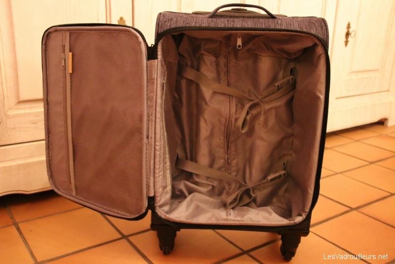 Intérieur de la valise cabine Lys