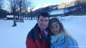 Selfie avec Me-Shot à la neige