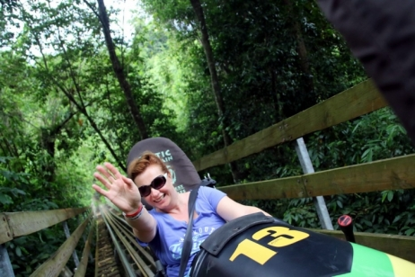 Que faire en Jamaique ? Rainforest Bobsled