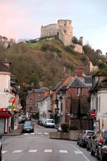 Le Château Gaillard surplombant Les Andelys