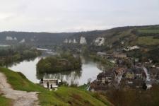Vue sur les Andelys depuis le Château Gaillard